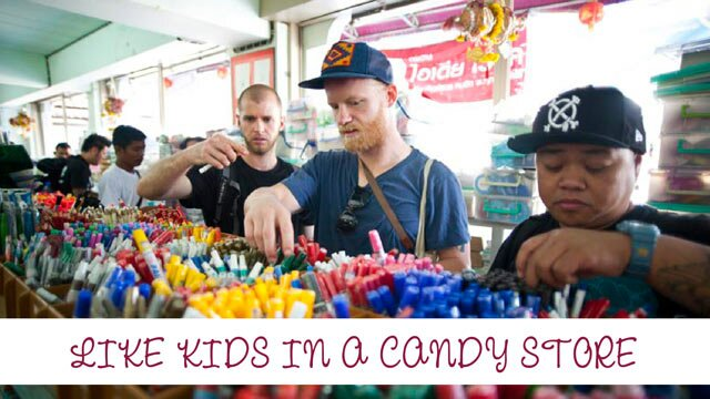 Like kids in a candy store – see the artists preparing